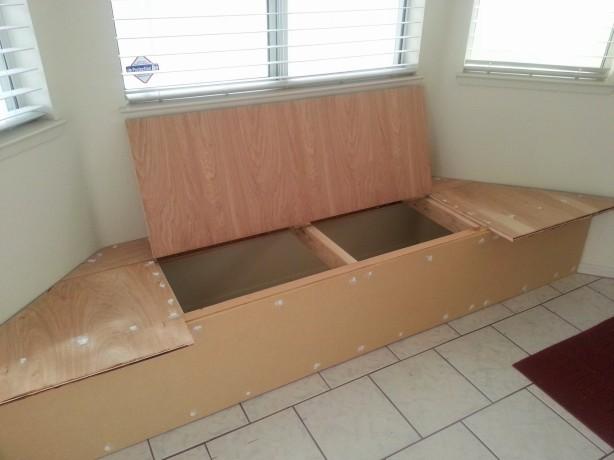 breakfast nook storage bench plans