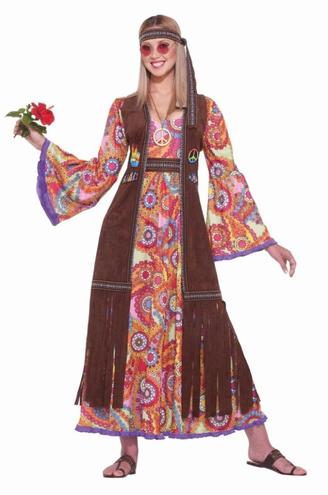 How people think hippie women look. Actually from an advert for a Hallowe'en costume.